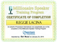 PowerTeam Int'l Millionaire Speaker training Program_Jan 2015