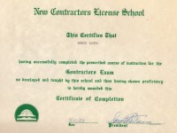 Contractors Licensing School Certification_April 1983