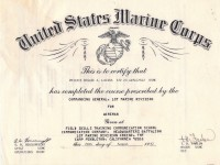 USMC Wireman Course Training Cert